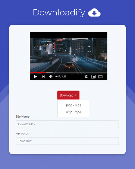 Video Downloader Script