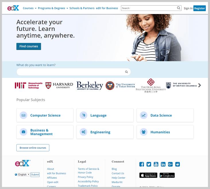 edX - Free Learning Websites