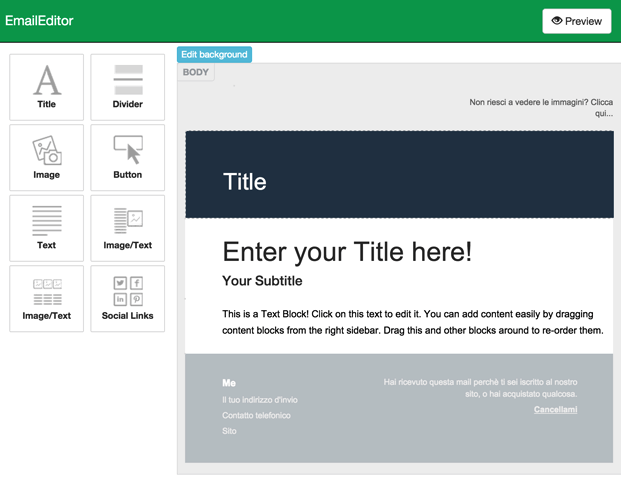 Email Editor - PHP Email Template Builder