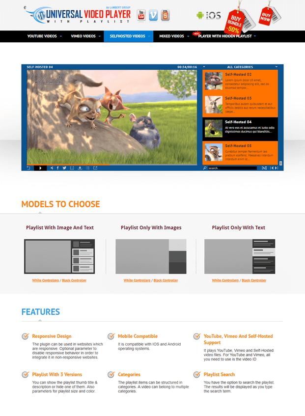 Home - HTML5 Video Player WordPress Plugin