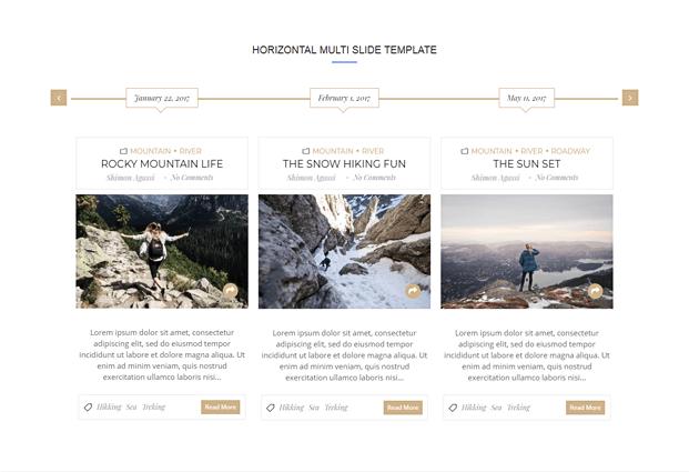 Horizontal Layout - Timeline Plugin For WordPress