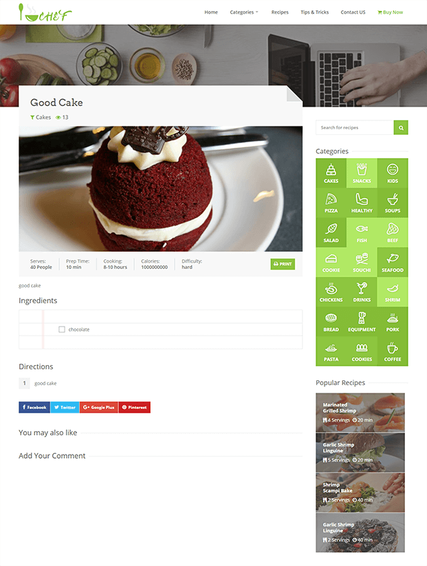 Buy Page - PHP Recipe Script