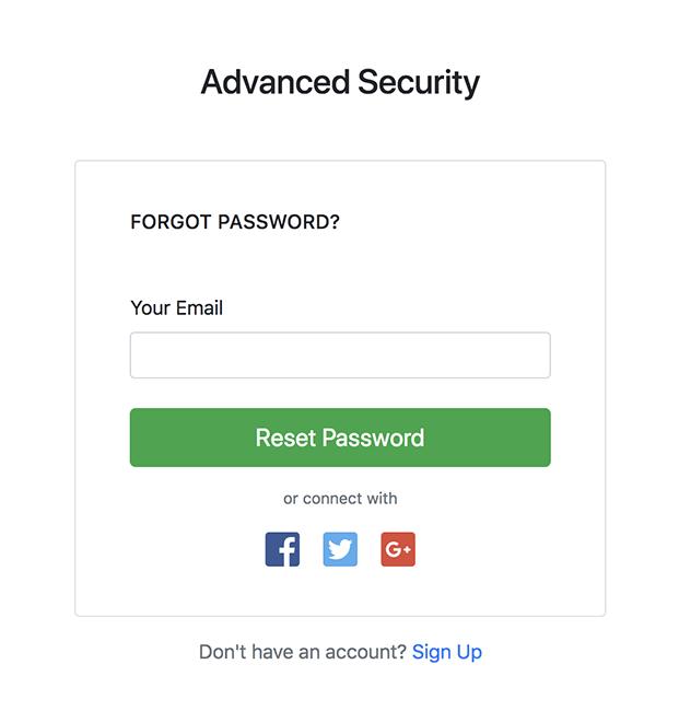 Forgot Password - Login Register PHP Script