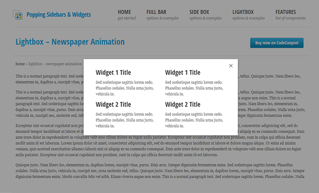 Demo - Widgets WordPress Plugin