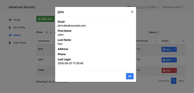 User Details - Login Register PHP Script