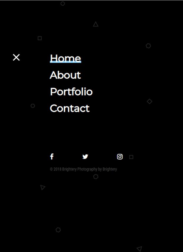 Menu - Photography PHP Script