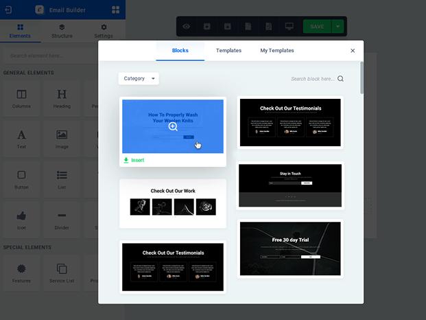 Modal Block - WooCommerce Email Customizer Plugin