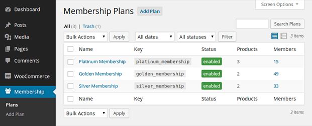 Plan Membership - WooCommerce Membership Plugin