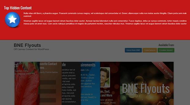 Top Sidebar - WordPress Off-Canvas Plugin