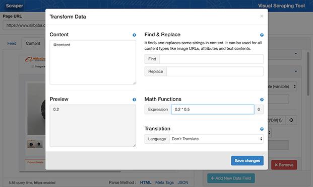 Transform Data - WordPress Content Scraper Plugin