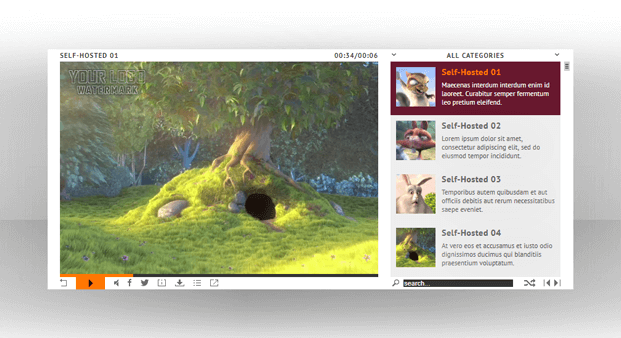 Self Hosted Videos - HTML5 Video Player WordPress Plugin