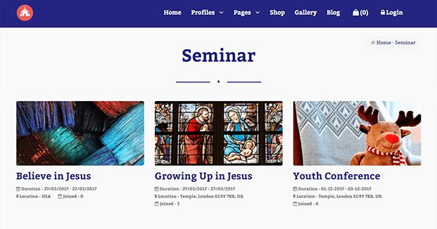 Seminar - Church Management Software