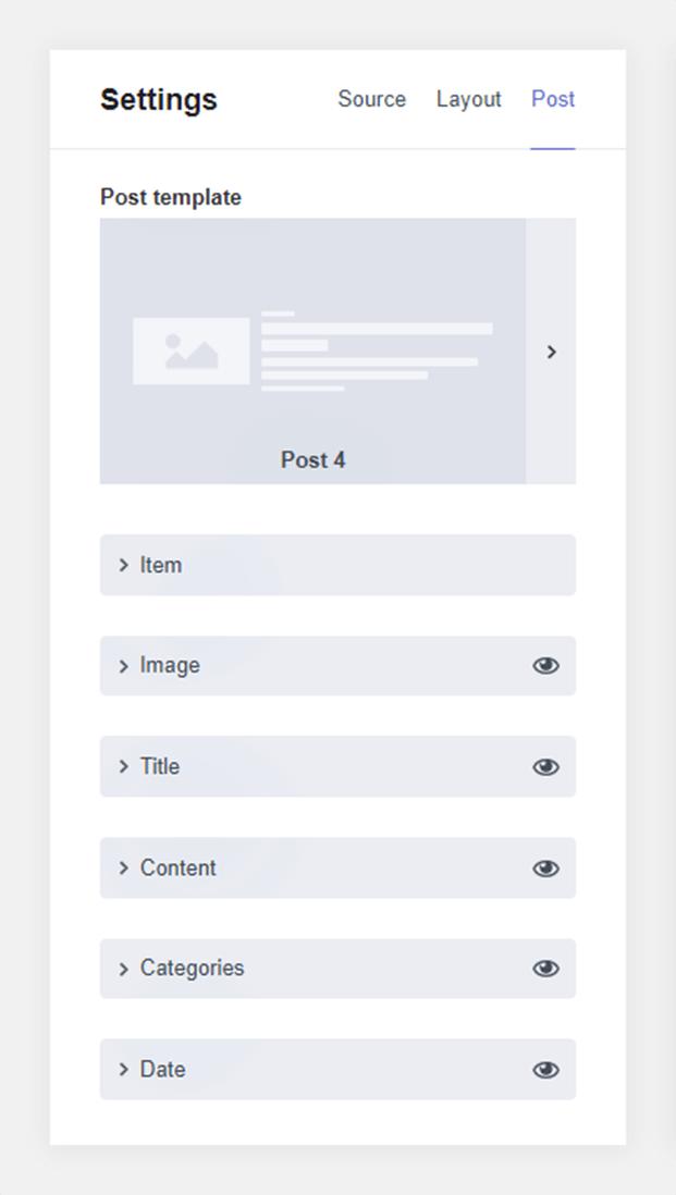 Settings- WordPress Post Feed Plugin
