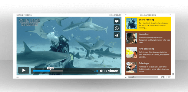 Playlist - HTML5 Video Player WordPress Plugin