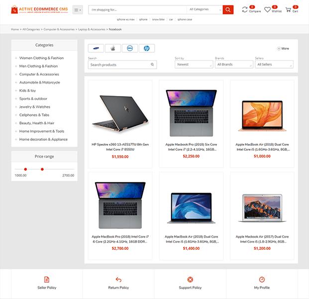 Shop - Online Marketplace Script