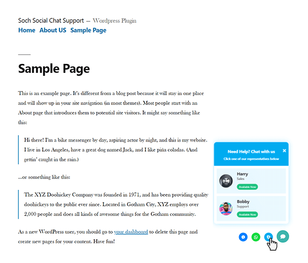 Skype - WordPress Social Chat Support Plugin