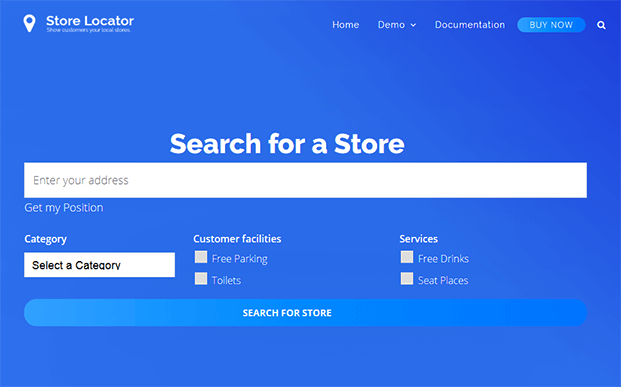 Advanced Search - WP Store Locator Plugin