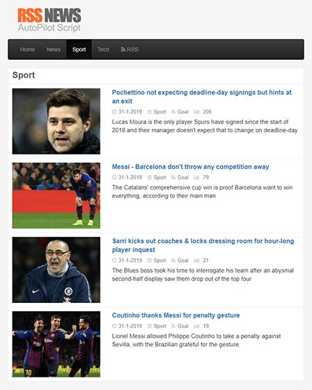 News Website PHP Script