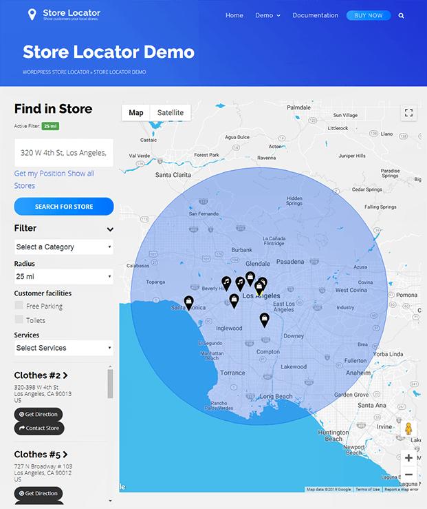 Store Locator Demo - WP Store Locator Plugin