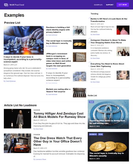 Wow Post Feed - Premium WordPress Plugin