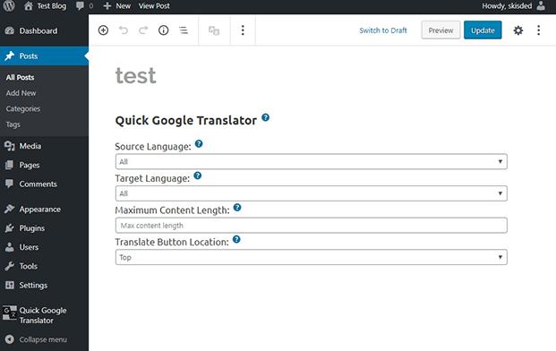 Post - WP Google Translator Plugin