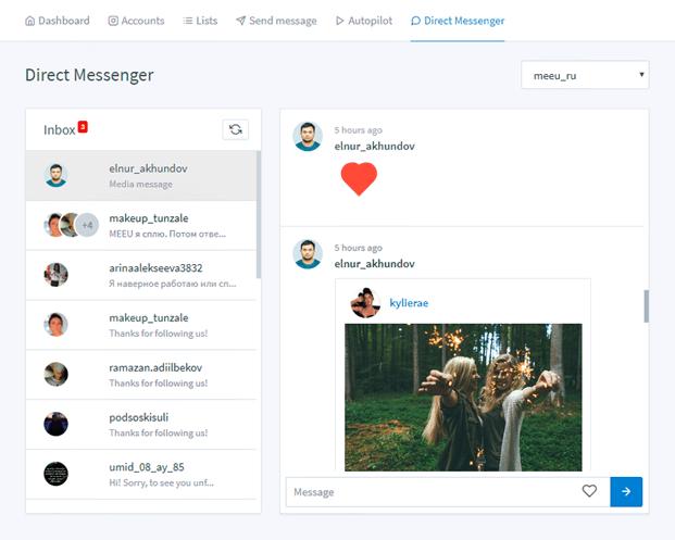 Direct Messenger - Instagram Automation Script