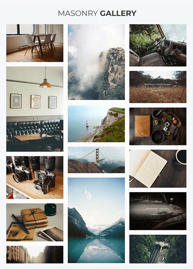 Masonry Gallery - Responsive Gallery WordPress Plugin