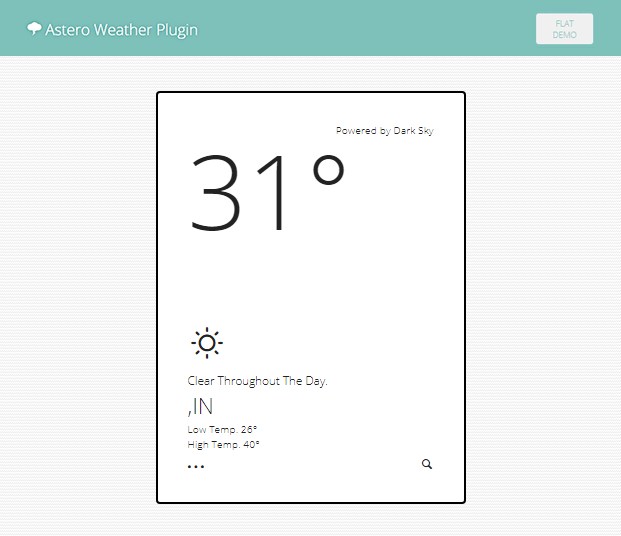 Flat Demo - WordPress Weather Plugin