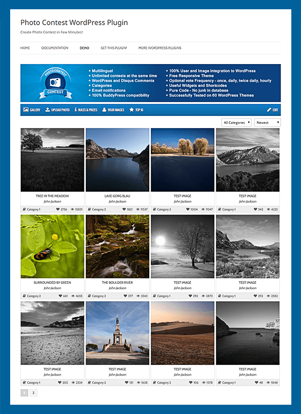 Responsive Gallery - Photo Contest WordPress Plugin