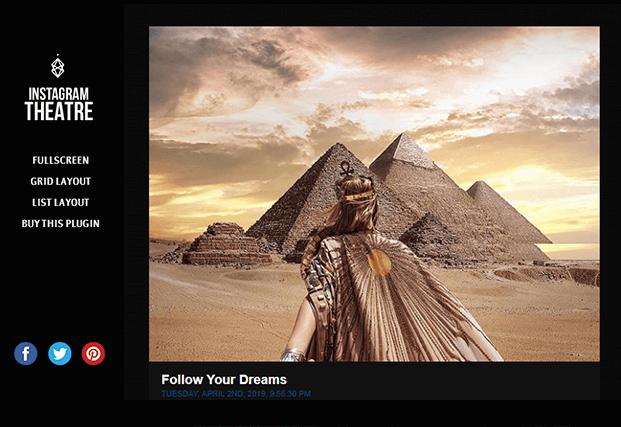 Full Screen Layout - Instagram Gallery WordPress Plugin