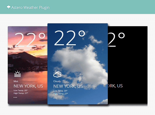 Slider - WordPress Weather Plugin