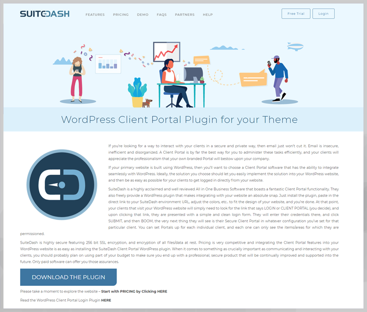 SuiteDash - Client Portal WordPress Plugin