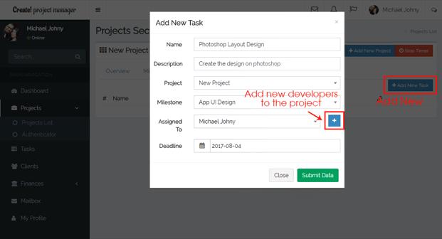 Create Tasks - Freelancer Project Management Software