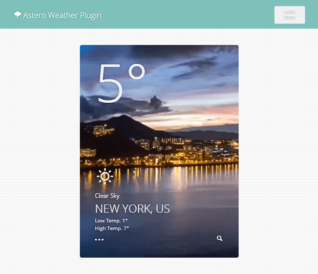 Video Demo - WordPress Weather Plugin