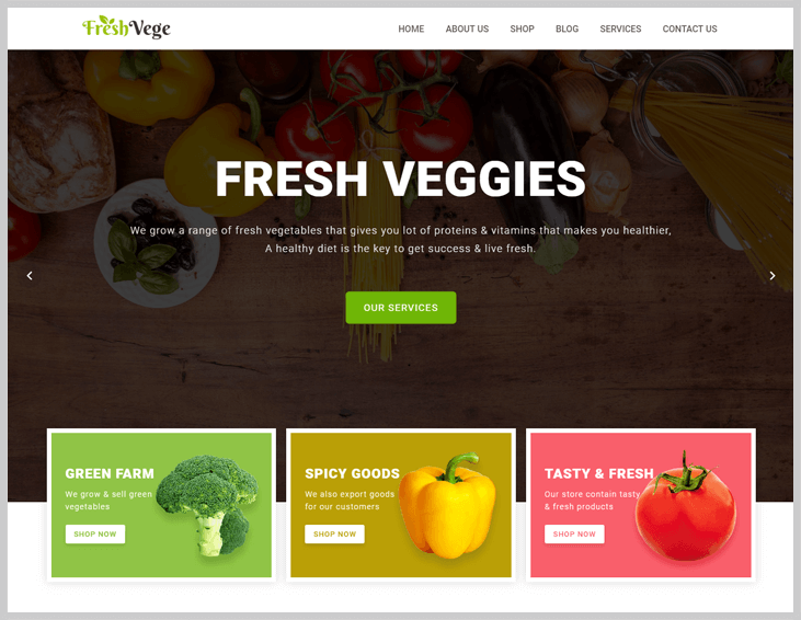FreshVege - Elementor WordPress Themes