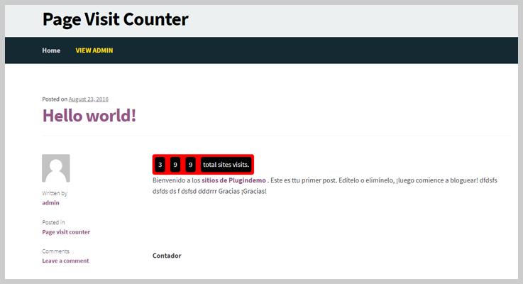 Page Visit Counter- Visitor Counter WordPress Plugin