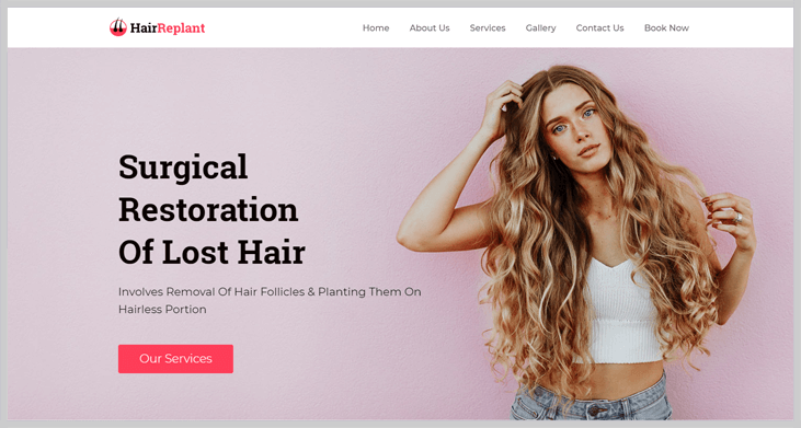HairReplant - Elementor WordPress Themes