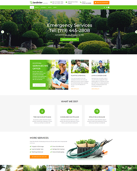 Landscaping Theme WordPress