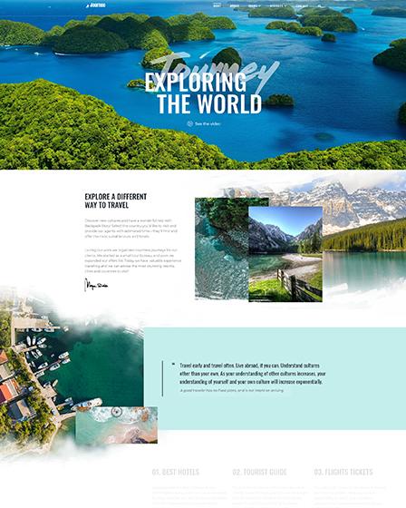 WordPress Theme For Travel Agency