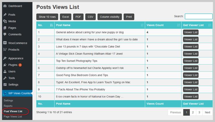 WordPress View Counter - Visitor Counter WordPress Plugin