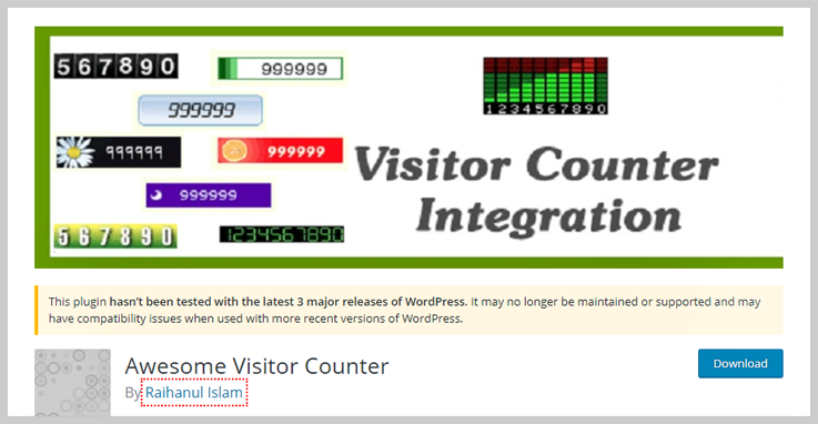 Awesome Visitor Counter- Visitor Counter WordPress Plugin