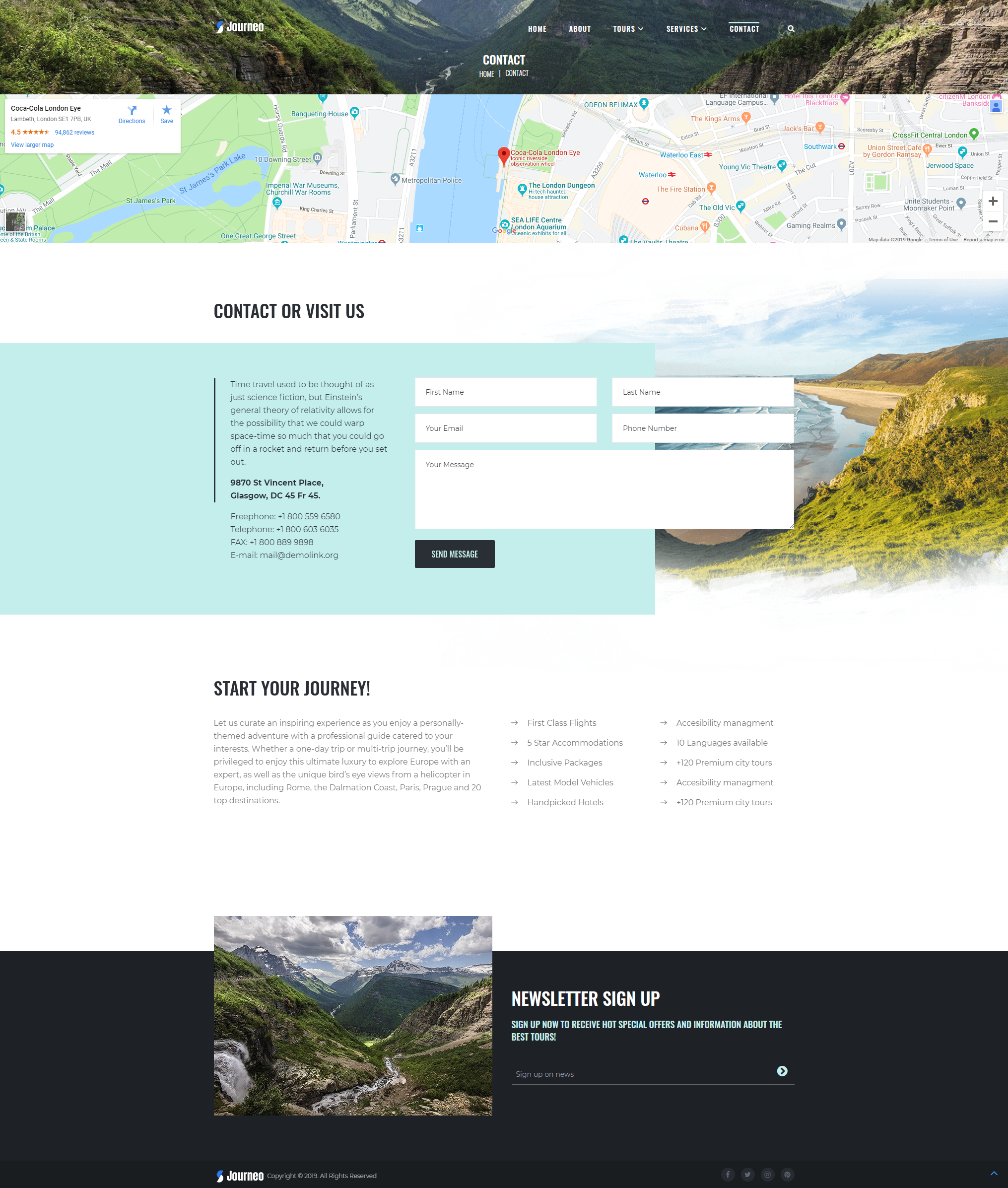 Contact - WordPress Theme For Travel Agency