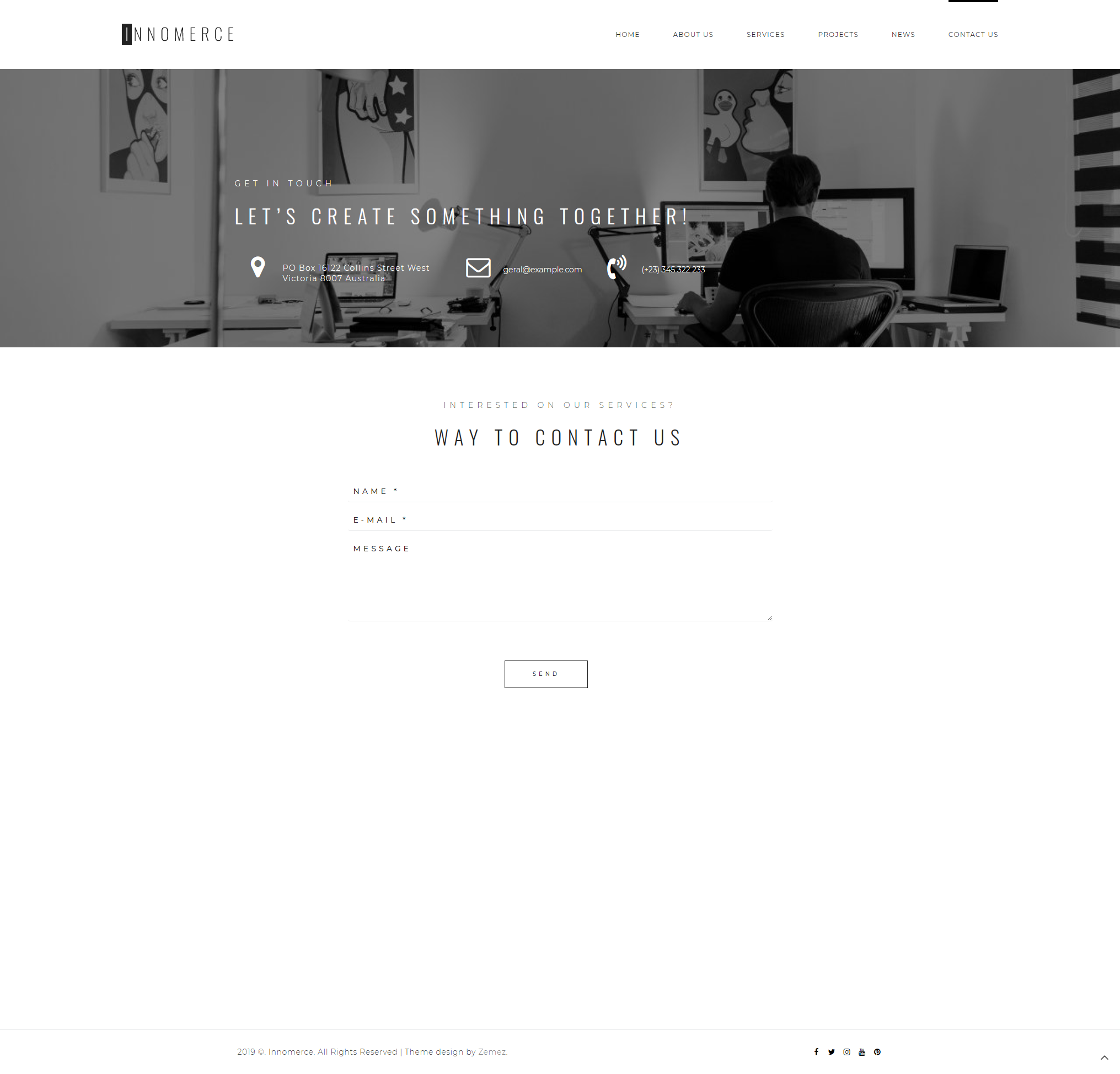 Contact - Business Elementor WordPress Theme