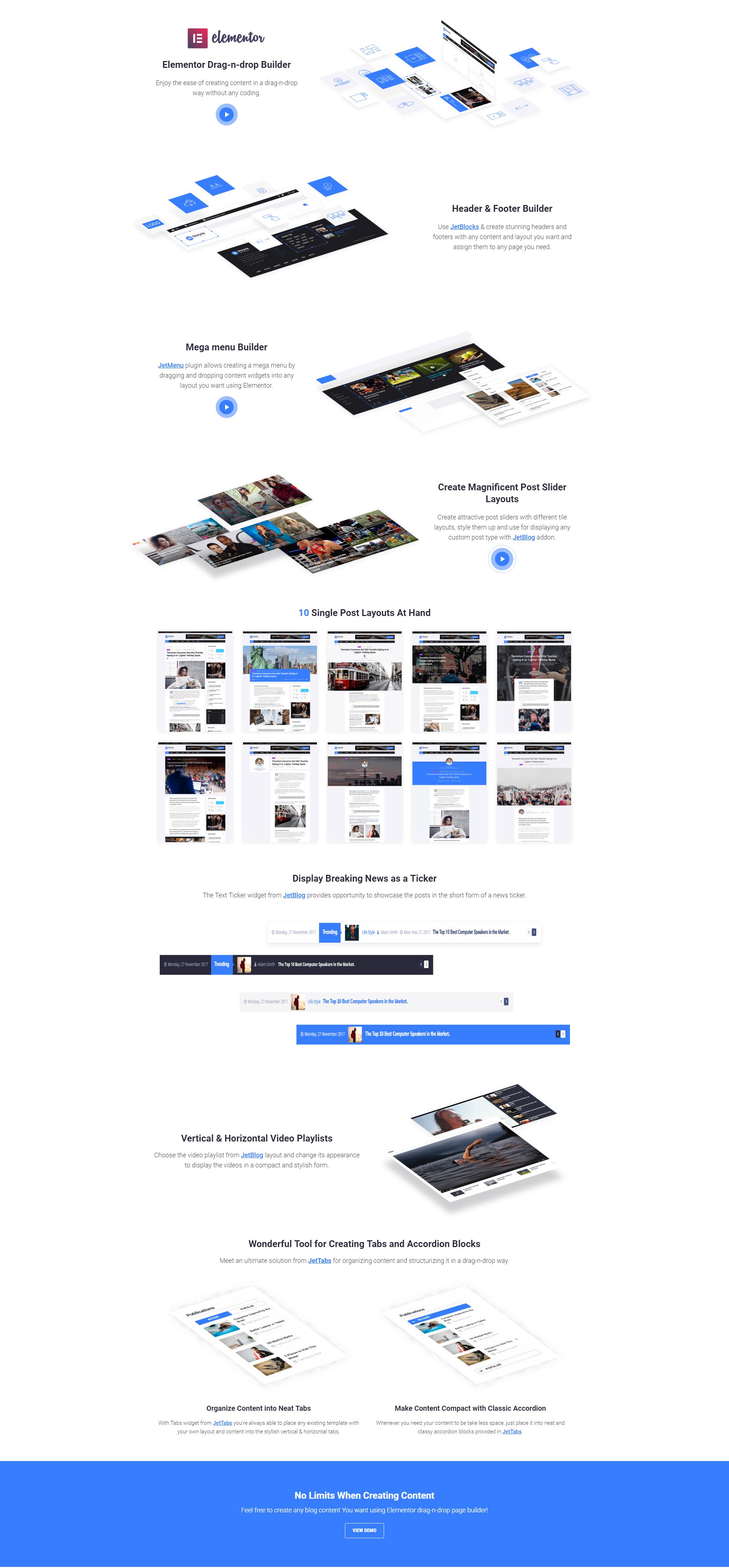 Elementor - WordPress Theme For News Portal