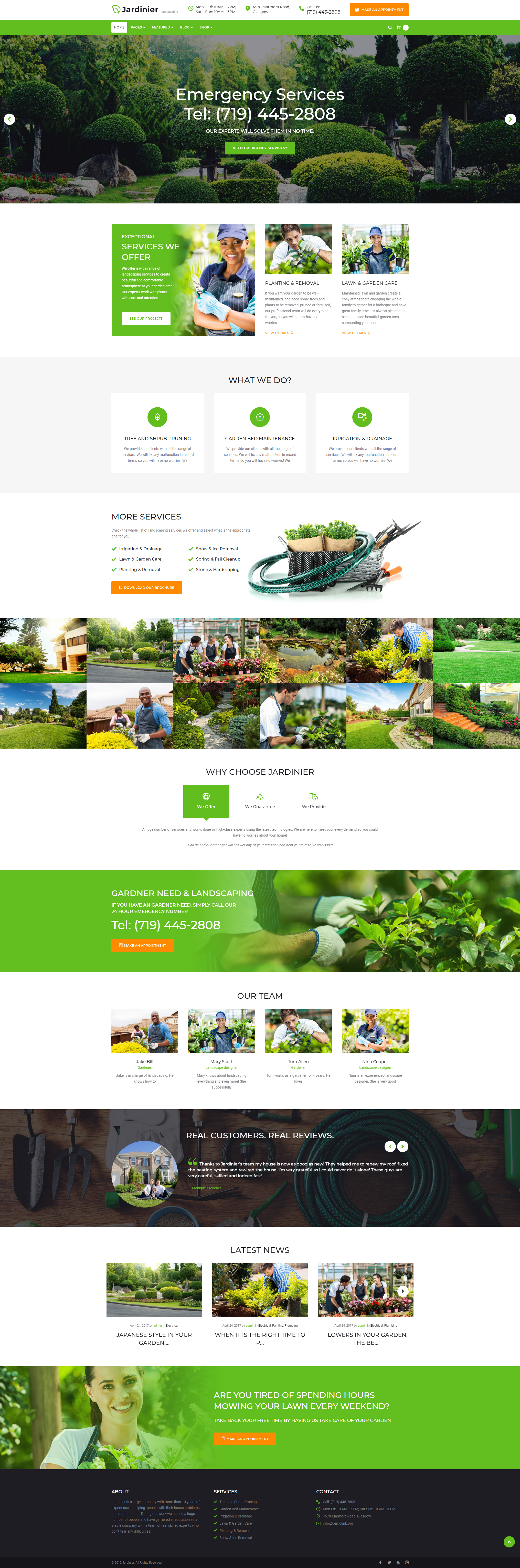 Home - Landscaping Theme WordPress