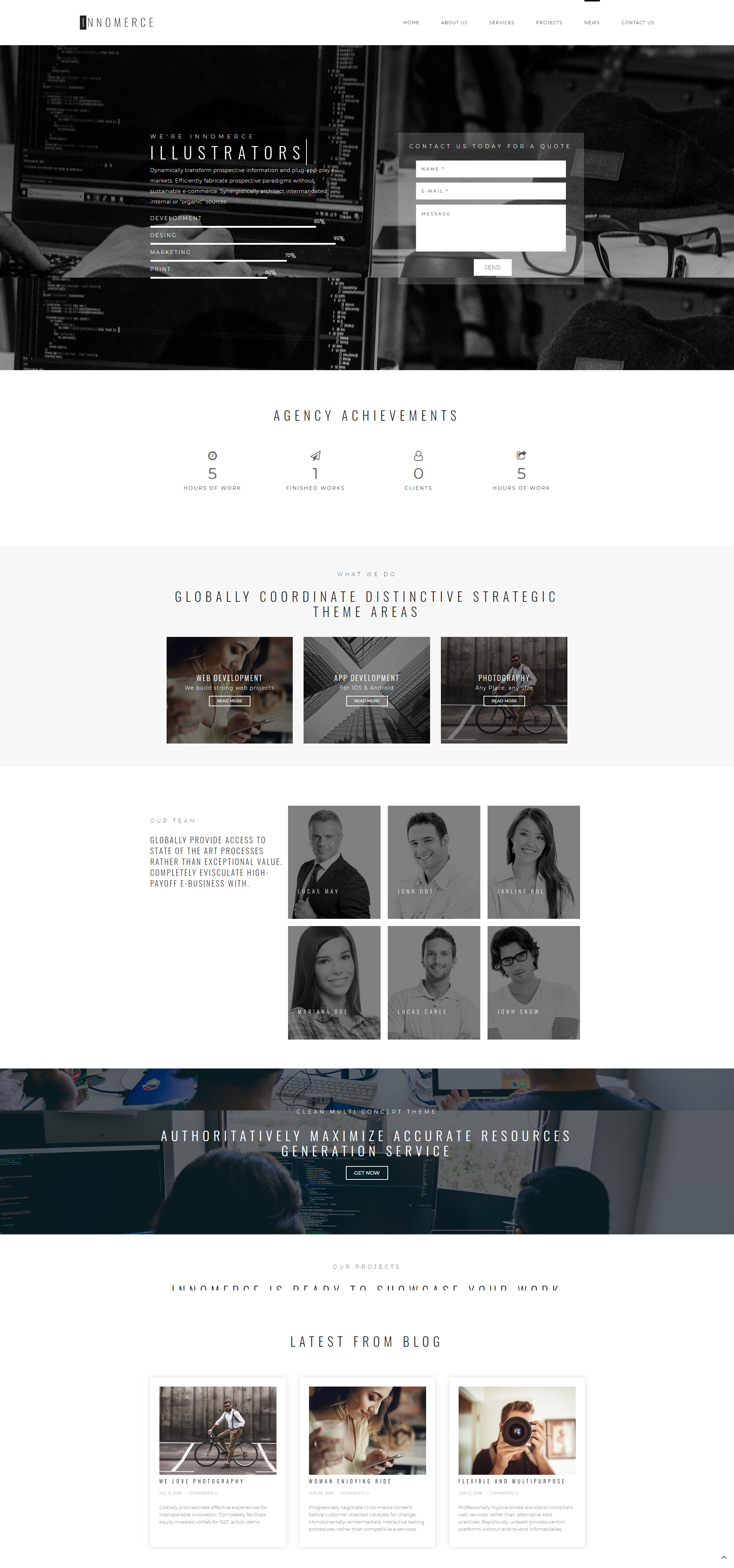 Projects - Business Elementor WordPress Theme