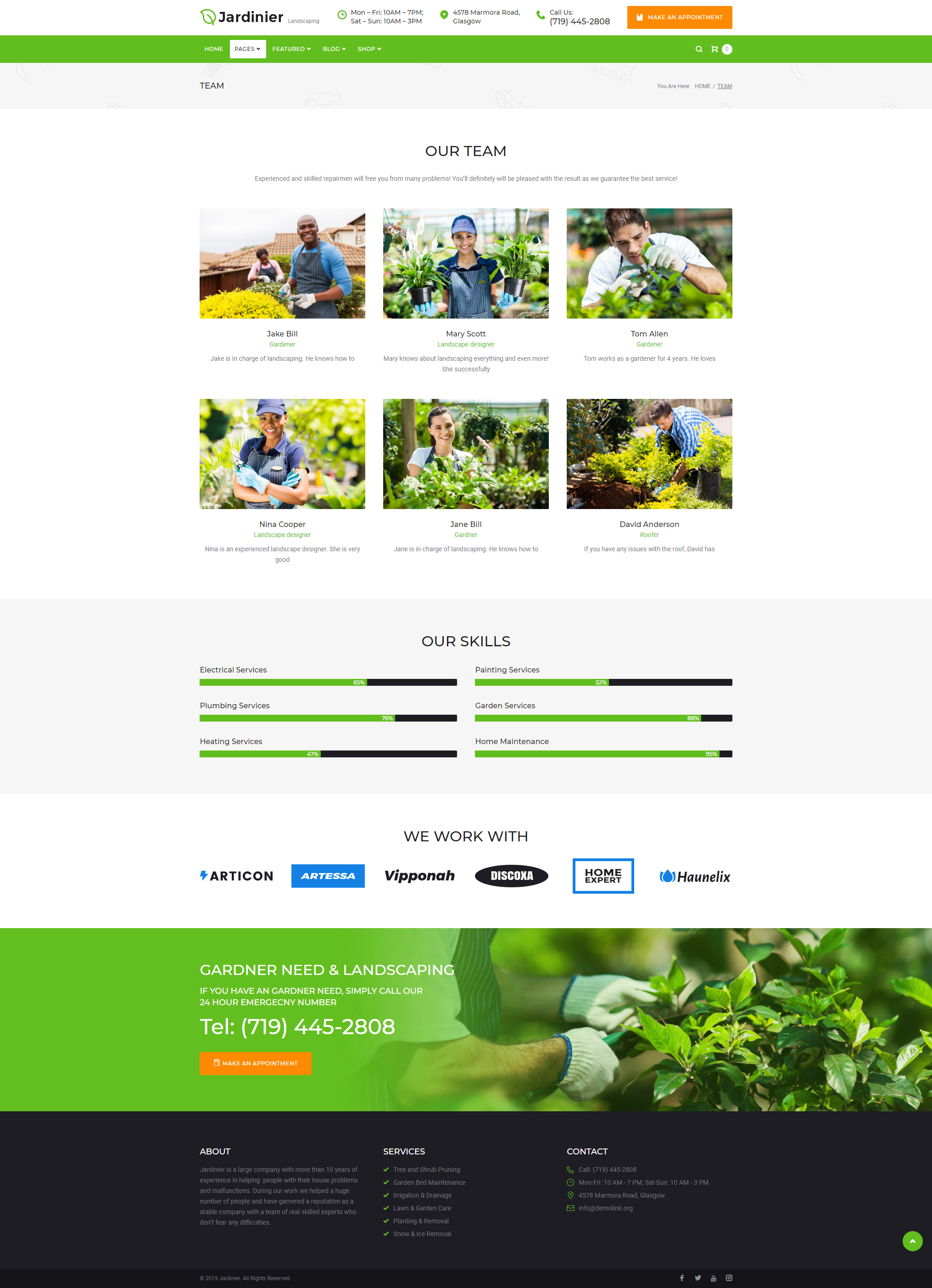 Team - Landscaping Theme WordPress