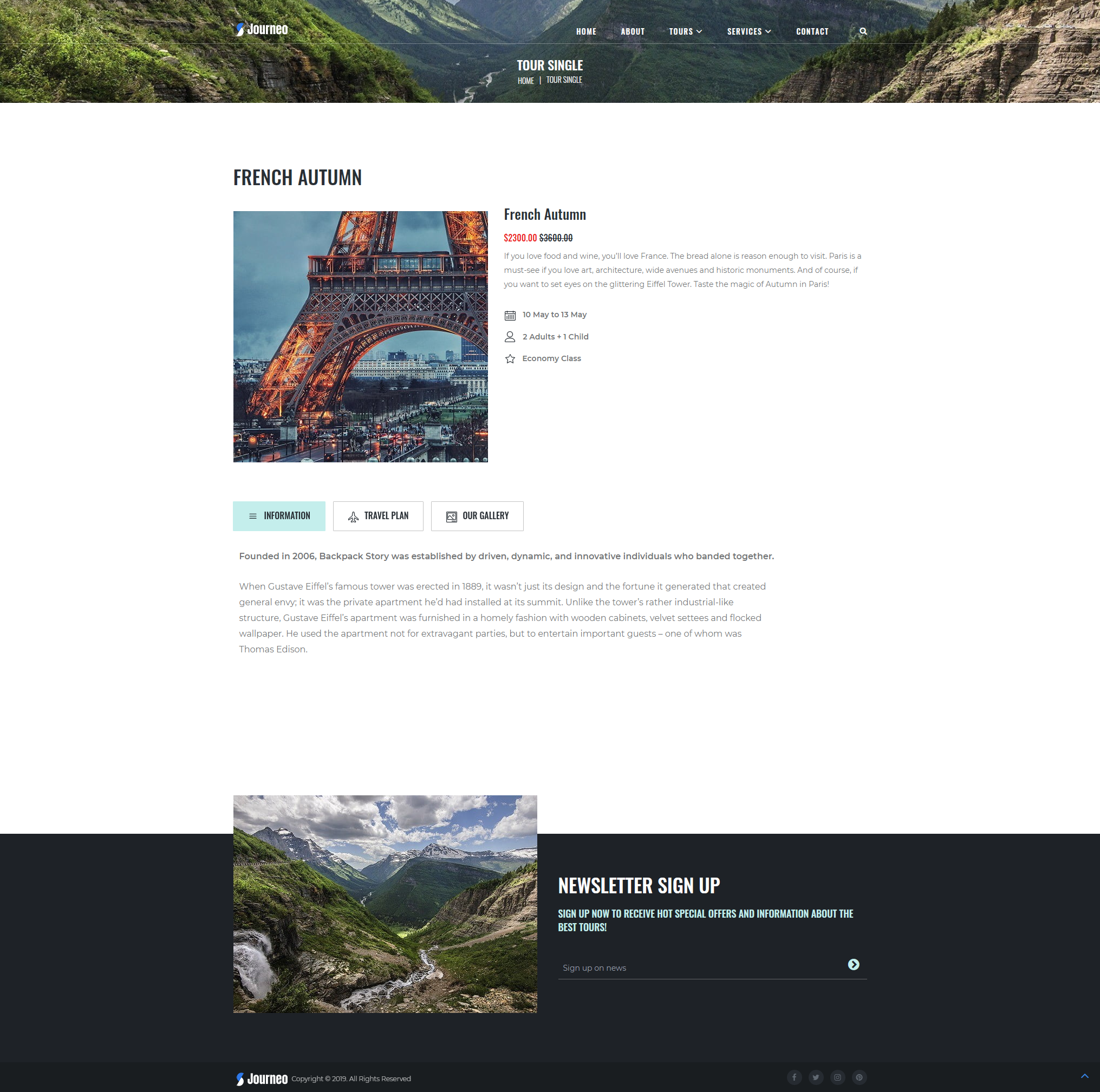 Tours - WordPress Theme For Travel Agency