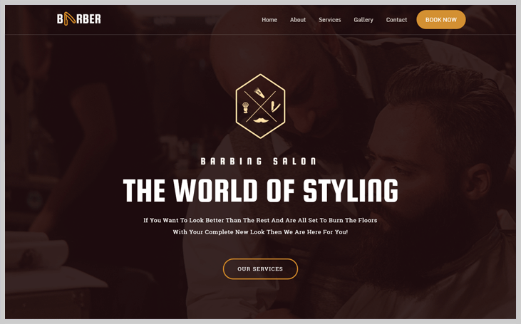 Barber - Elementor WordPress Themes