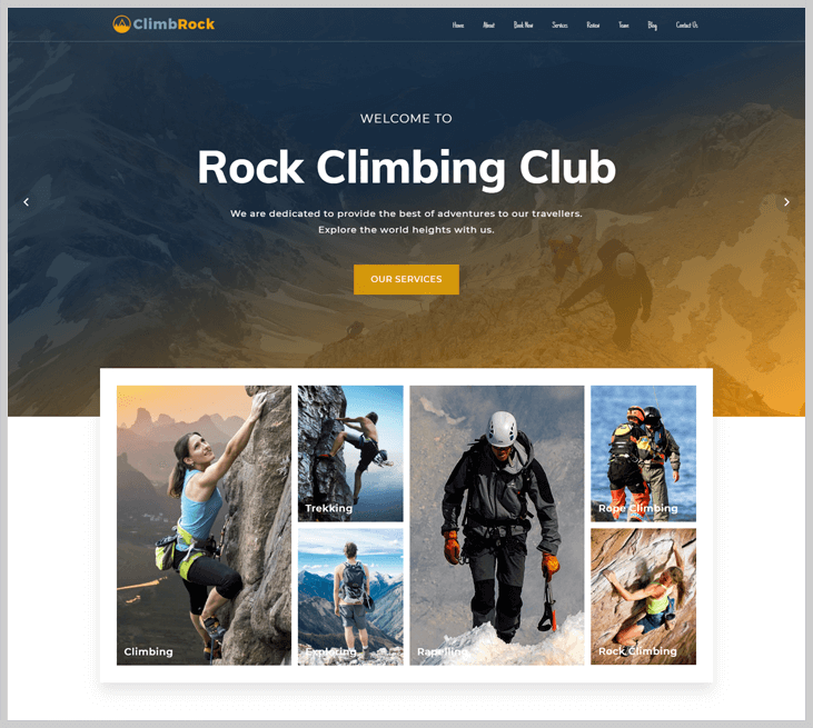 ClimbRock - Elementor WordPress Themes